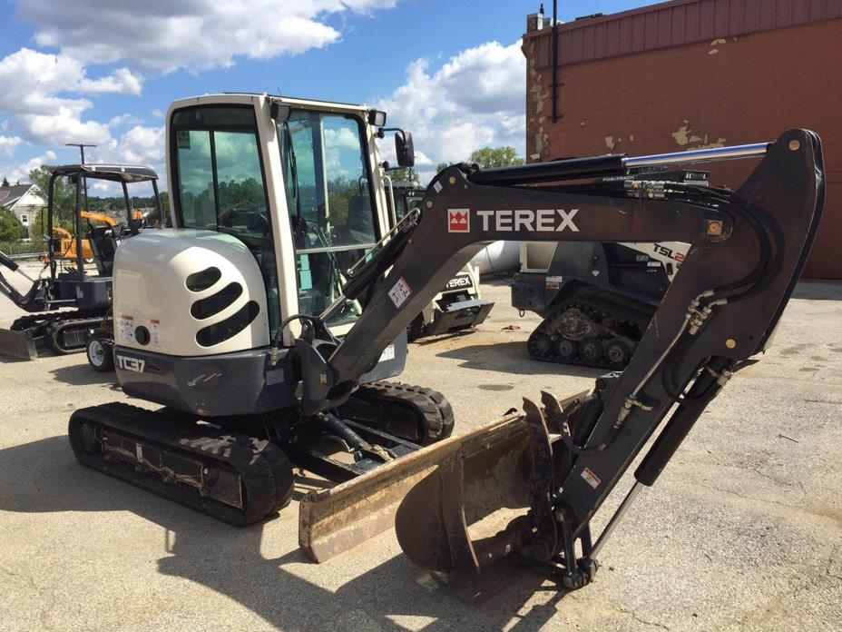 Terex TC37 Mini Excavator Rubber Crawler