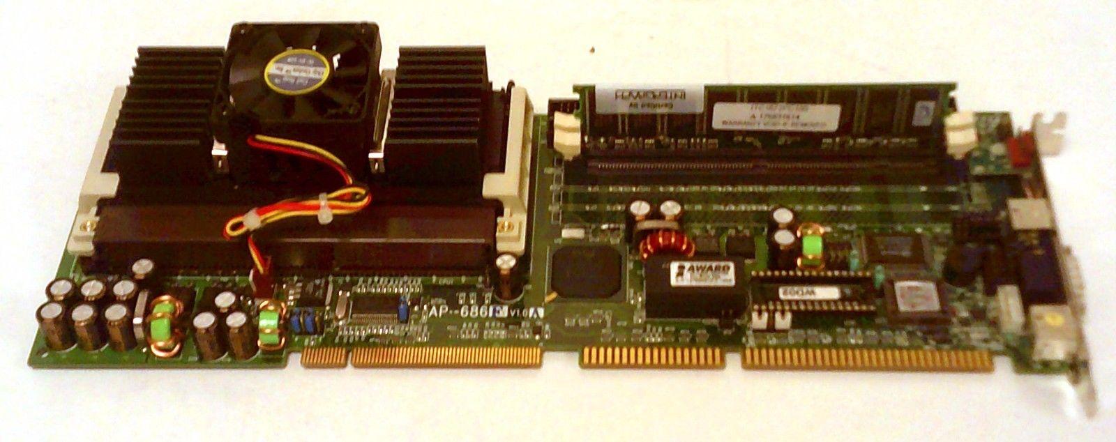 Vintage Intel Pentium II 350Mhz Processor SL2U3 Single Board CPU PC RAM AP-686F