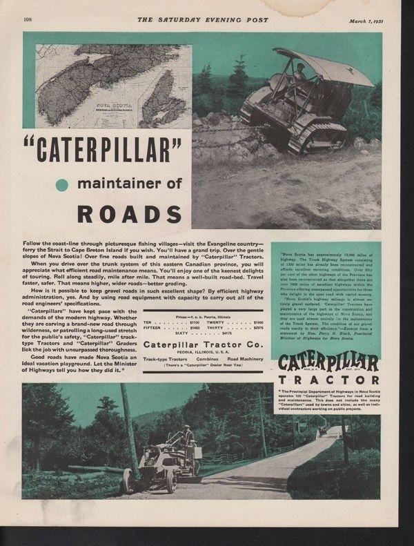 1931 CATERPILLAR TRACTOR CONSTRUCTION BULLDOZER PEORIA14985