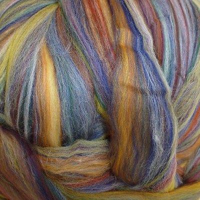Merino Wool Top Roving Granada Multi Color 1 Pound