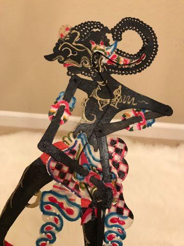 Antique Javanese shadow puppet Wayang Kulit NICE LOOK Indonesian n doll figure