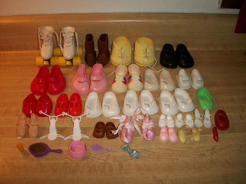 Vintage Mixed Lot Doll Shoes Skates Ideal Kimberly Shillmon Unknown Lot A