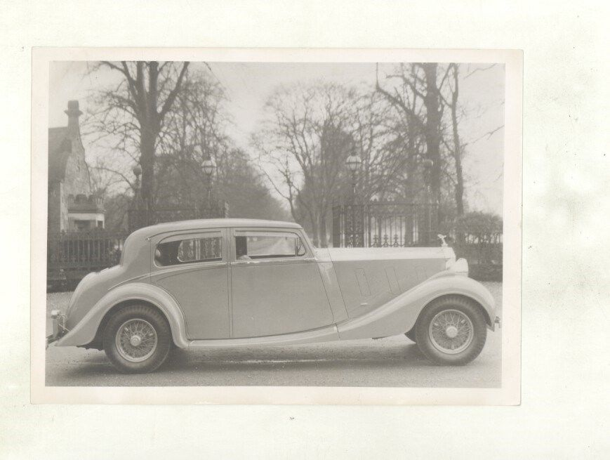 1936 ? Rolls Royce Phantom III Saloon Factory Photograph ww5803