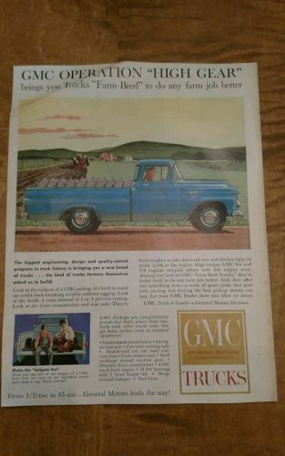 Lot of 4 1959 Truck advertisements..Ford, Dodge, Chevy and GMC..nice.