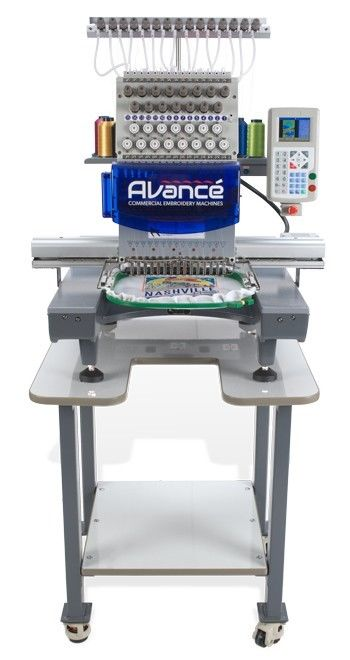Avance 1501C Commercial Embroidery Machine With Laser Trace, Hoops, Cap Hoop