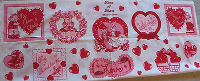 HAVE A HEART VALENTINE APPLIQUE FABRIC PANEL