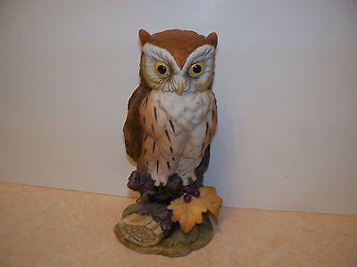 GREAT HORNED OWL Figurine Porcelain Andrea by Sadek 6315 Made in Japan