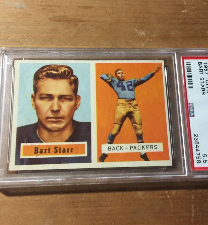 1957 TOPPS Bart Starr RC #119 EX+ PSA 5.5 Green Bay Packers HOF