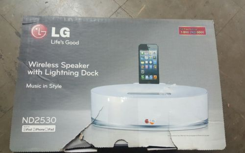 LG Displays ND2530A Wireless Speaker With Lightning Dock For Iphone And Ipad
