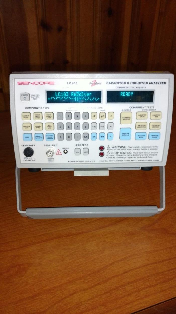WOW Look Sencore LC103 In-Circuit Capacitor/Inductor Analyzer Rezolver
