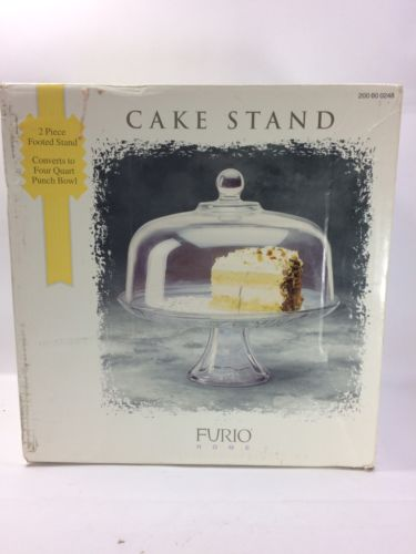 Furio Home 2 Piece Footed Cake Stand/ Punch Bowl