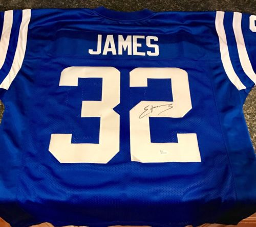 Edgerrin James Autographed Custom Indianapolis Colts Jersey