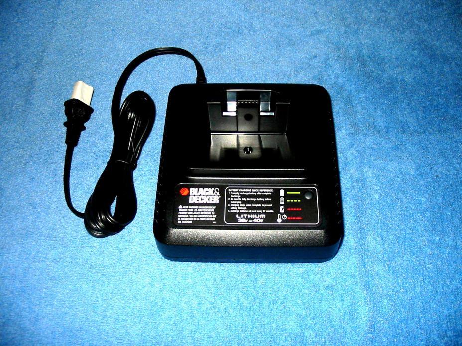 NEW Black & Decker  40 v Volt Fast Battery Charger Lithium Ion Slide Style
