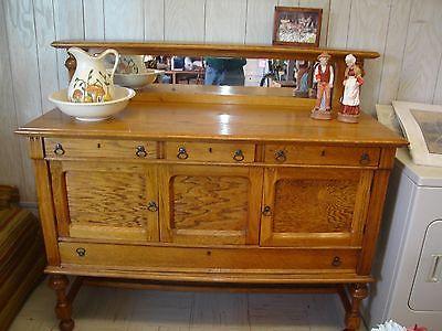 Antique Buffet Beautiful Golden Oak