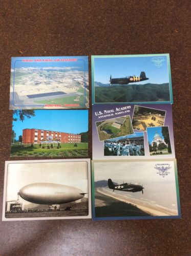 Postcard Lot Collectible Vintage Naval Aviation Airplanes Military Norfolk