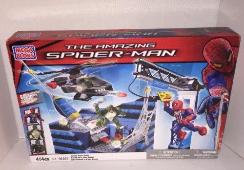 Mega Blocks 91351 The Amazing Spider-Man Oscorp Tower Battle 414 Piece Set New