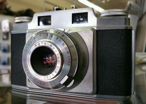 Vintage Agfa Silette 35MM Range Finder Camera - Agfa Apotar 3.5/45mm Lens