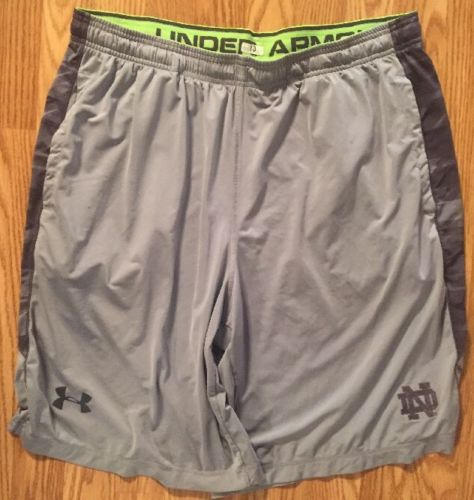 Notre Dame Football Team Issued Under Armour Shorts Xl #13