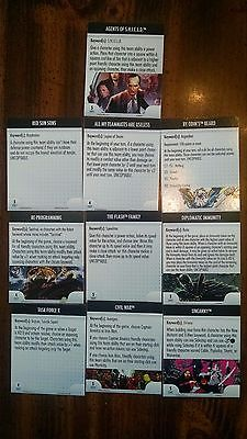 Heroclix complete set of 10 OFFICIAL Convention Exclusive ATA cards (Origins)!