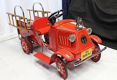 1925 STEELCRAFT MACK FIRE TRUCK Pedal Car w/ Dual Rear Wheels Custom Restoration