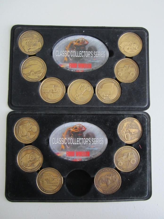 Four Wheeler Magazine Collectors Series Lot of 13 Token Medallion Coins