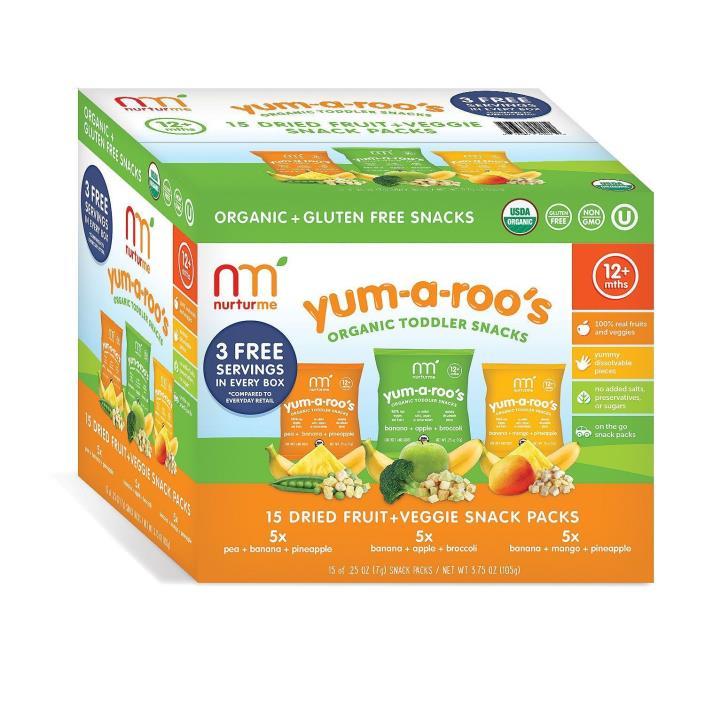 NurturMe Yum-A-Roo's Organic Toddler Snacks (0.25 oz.,15 ct.)