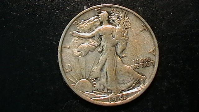 1943-S WALKING LIBERTY SILVER HALF DOLLAR COIN BEAUTIFUL  DESIGN!!  522B5b
