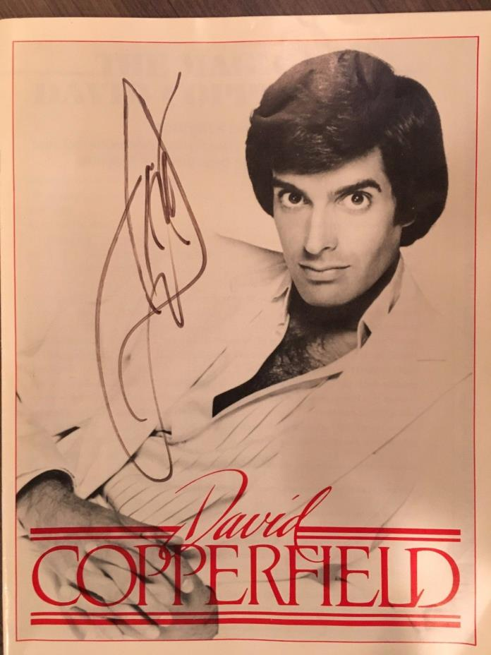 David Copperfield autographed 1985 Program w Ticket