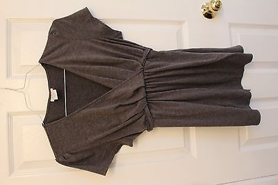 Oh Baby Maternity Top by Motherhood Gray Size Large L