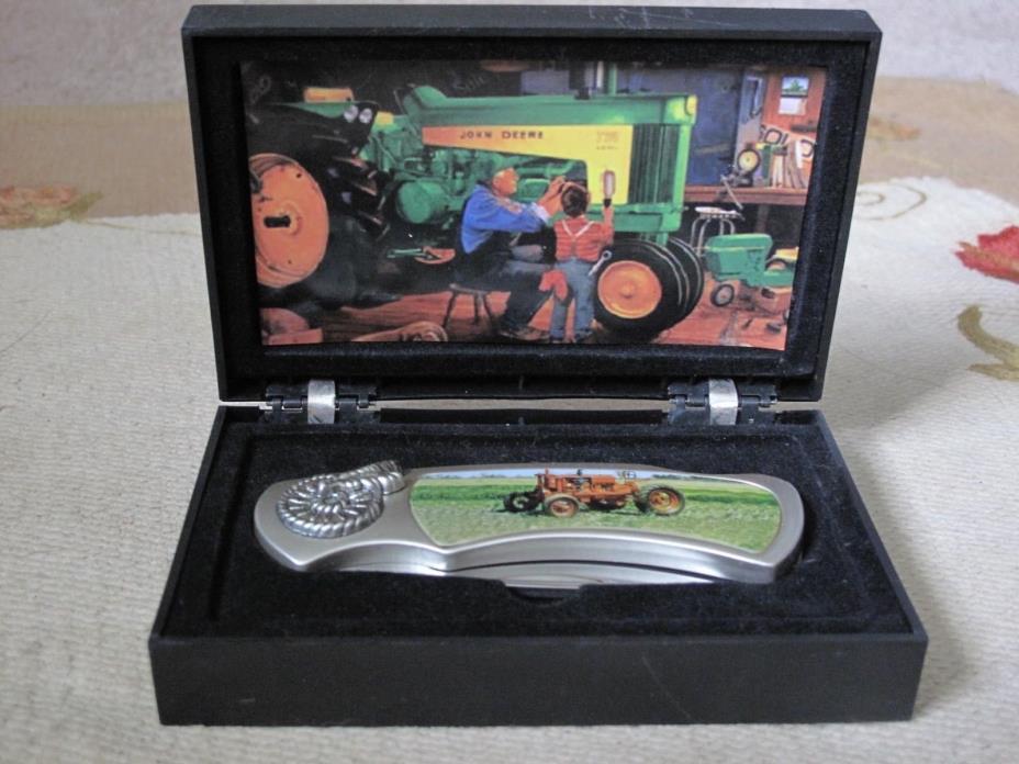 Tractor Knife In John Deere Tractor Scene Box