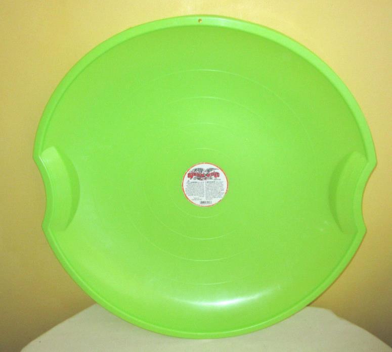 Flexible Flyer Lime Green Plastic Snow Saucer Sled