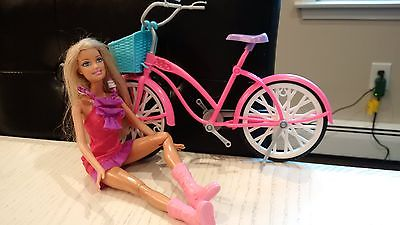 Barbie Bike with basket and Barbie Doll