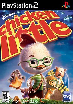 CHICKEN LITTLE & ACE IN ACTION [DISNEY GAME LOT] (PlayStation 2) COMPLETE