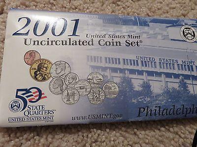 2001 US mint uncirculated coins P & D