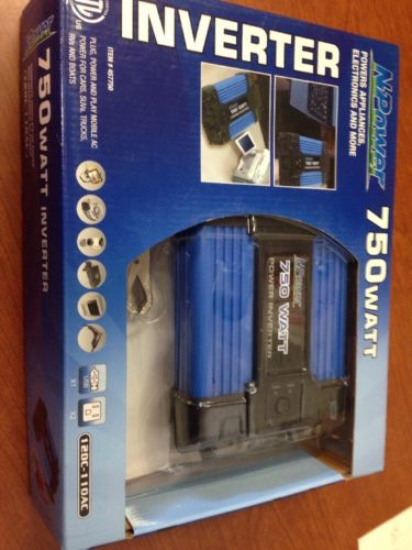 NPower 750 Watt Inverter 12DC-110 AC