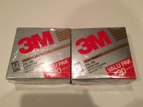 3M High Density DS HD Diskettes IBM AT Compatible 5 1/4