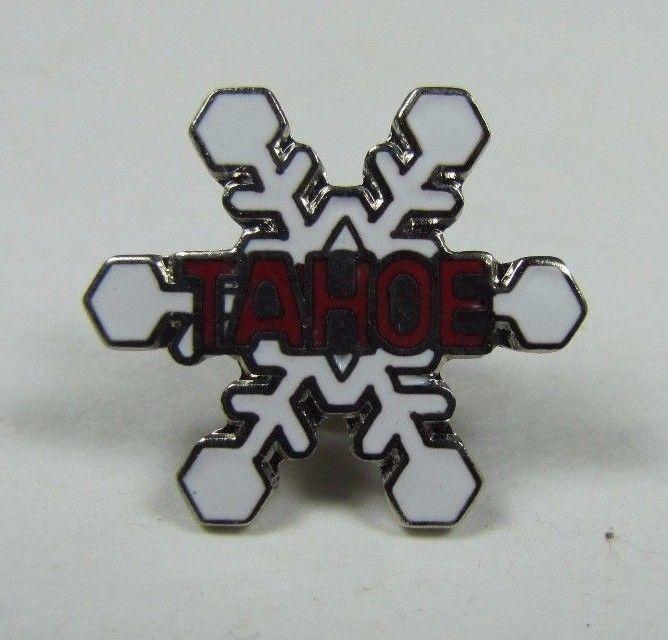 Vintage TAHOE Skiing Pin Pinback Jacket Hat Lapel Scarf NOAG