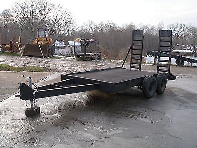 12 FT X 78 IN PINTLE HOOK    TANDEM  AXLE TRAILER  ELECTRIC BRAKES