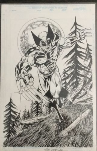 Wolverine, Original Comic Art, Marvel Comic, Tom Morgan