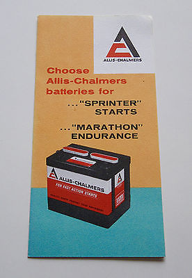 1960's-1970's Allis Chalmers Battery Brochure