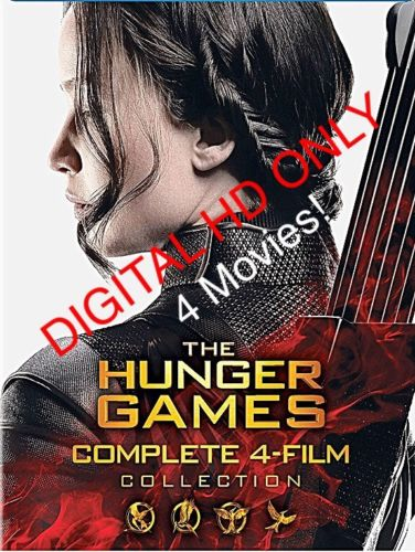 The Hunger Games Collection  / Four Digital HD (No Movie Discs) **PLEASE READ**