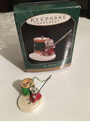 1997 Hallmark Keepsake Ornament Miniature Sew Talented Mouse