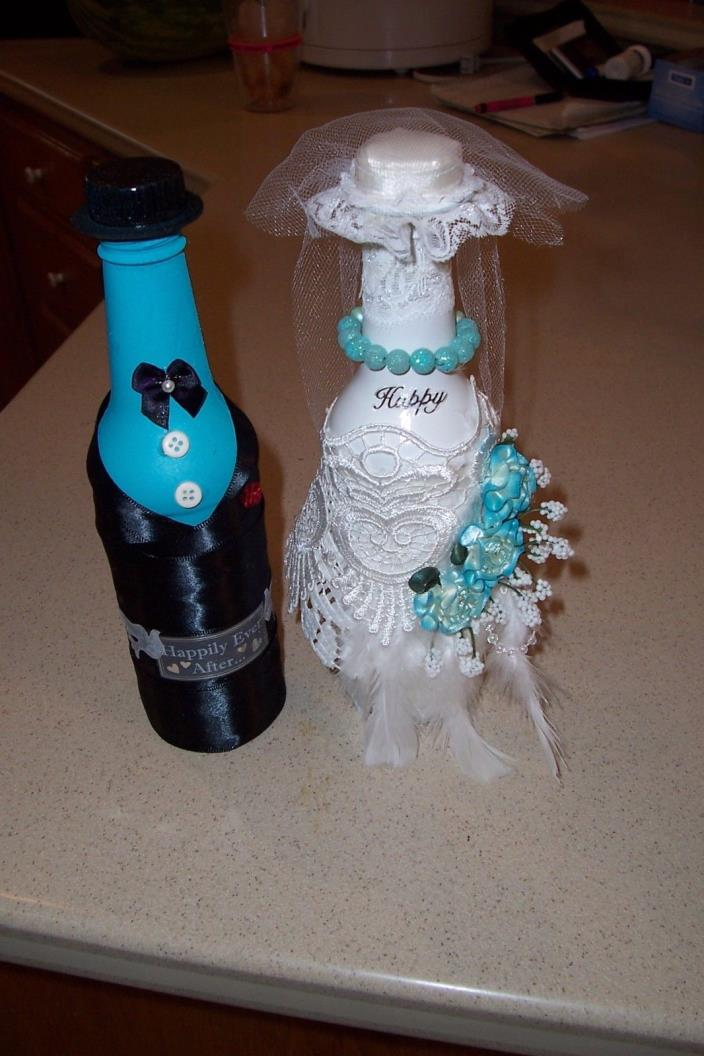 8-1-Wedding decorations- bottles