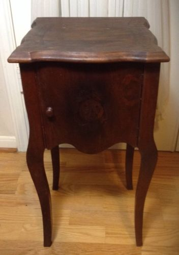 Antique Small Wood Stand Or Side Table