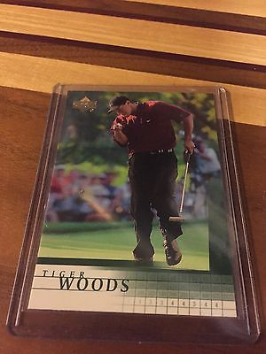 TIGER WOODS 2001 UPPER DECK ROOKIE CARD RC SP #1 NM-MT HOT!! NIKE PGA GOAT WOW!!