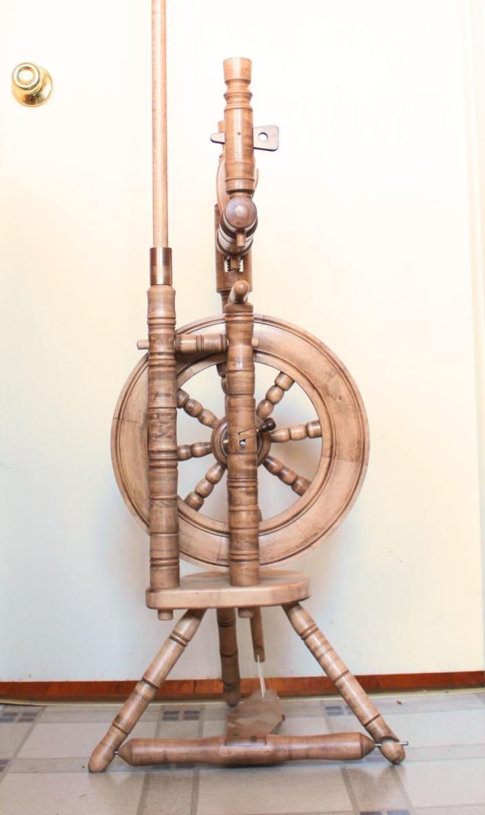Castle Spinning Wheel Single Treadle Wooden