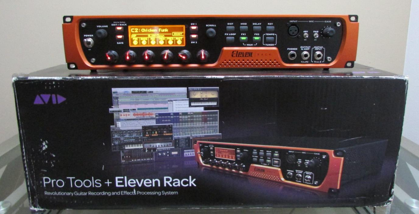 AVID ELEVEN RACK AUDIO INTERFACE WITH EXPANSION PACK GUITAR MULTI EFFECTS