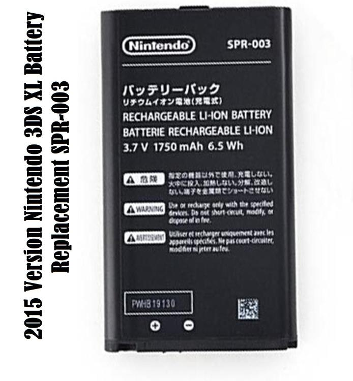 New Nintendo 2015 Version 3DS XL Battery Replacement SPR-003 3.7V Free Shipping