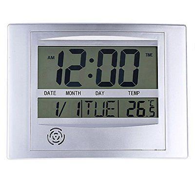 La Desk Shelf Clocks Crosse Technology WT-8002U Digital Wall Clock
