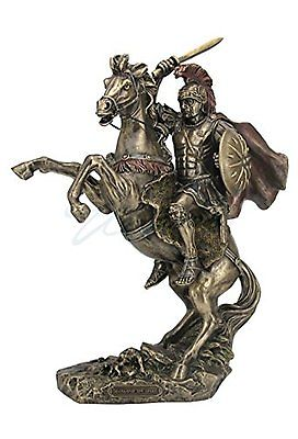 Bronzed Statues Finish Alexander the Great on Horseback Statue